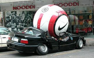 Funny-Car-Accident-with-Nike-Ball-Pictures; Chris Brady Caption Contest